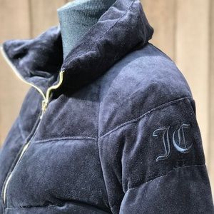 Juicy Couture Quilted Down Puffer Jacket Velour XS
